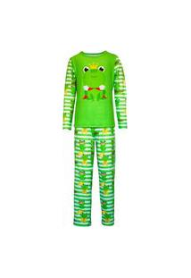 Pijama Menino Manga Longa E Calça Isabb Sapo Verde