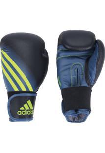 Luvas De Boxe Adidas Speed 100 - 8 Oz - Adulto - Preto/Amarelo Fluor