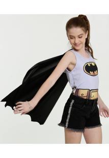 Body Juvenil Batman Carnaval Sem Manga Liga Da Justiça