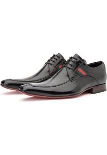 Sapato Social Masculino Derby De Amarrar - Masculino-Preto