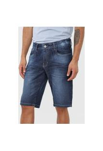 Bermuda Jeans Rock&Soda Reta Lisa Azul