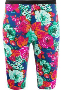 Msgm Bermuda Esportiva Com Estampa Floral - Rosa