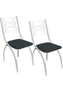 Kit 2 Cadeiras Itália C018 - Kappesberg - Preto