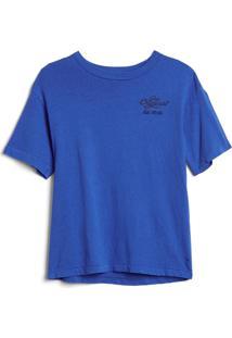 Camiseta Gap Lettering Azul