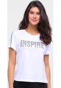 T-Shirt Morena Rosa Gola Redonda Detalhe Termocolante Inspire Feminina - Feminino