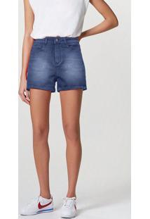 Shorts Jeans Feminino Cintura Alta Soft Touch
