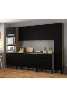Cozinha Compacta Itamaxi Iv 11 Pt 6 Gv Preta E Castanho