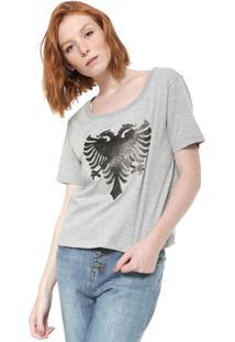 Camiseta Cavalera Logo Cinza