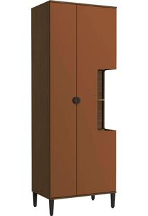 Paneleiro 800Mm 2 Portas Po016 – Kappesberg Pop - Jacarandá / Terracota