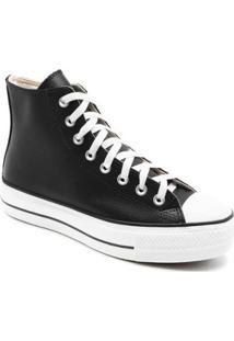 Tênis Converse All Star Chuck Taylor Platform Lif Feminino - Feminino-Preto+Branco