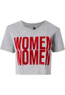 Camiseta John John Women Malha Algodão Cinza Feminina (Cinza Mescla Claro, Gg)