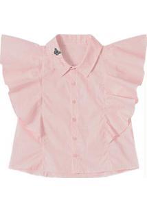 907e3e0e09 Camisa Para Meninas Listrado Rosa infantil