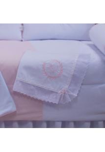 Manta Laura Baby Piquet Realeza Rosa