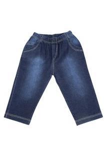 Calça Jeans Com Elástico Baby Bee