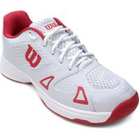 685e3421d1b Tênis Wilson Smash Pro Masculino - Masculino-Branco+Vermelho