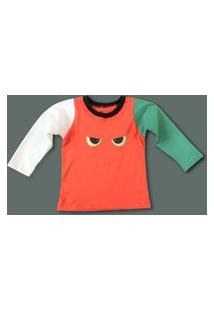 Amaro Feminino Caiçarinhas Baby Camiseta Infantil Manga Longa, Multi Colorido