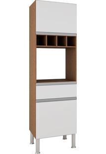 Paneleiro Com 2 Portas E 1 Gaveta Premium-Mgm - Amendoa / Branco