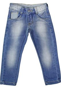 Calça Jeans Infantil Oznes Menino Azul - 1