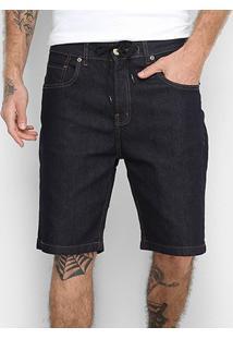 Bermuda Jeans Quiksilver Skate Denim Masculina - Masculino-Marinho