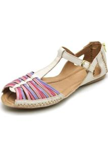 Tamanco Top Franca Shoes Babuche Feminina - Feminino-Off White