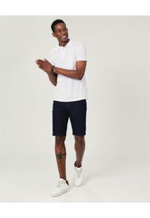 Bermuda Tradicional Em Jeans Com Elastano Malwee Azul Escuro - 36