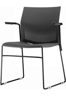 Cadeira Connect Com Braco Base Fixa Preta - 53772 - Sun House