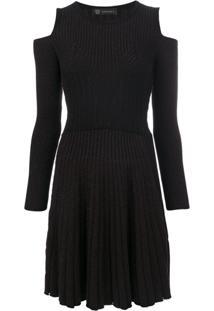 Versace Vestido Com Ombros Vazados - Preto