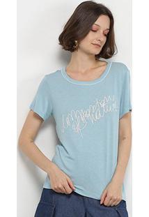 Camiseta Forum Manga Curta Feminina - Feminino-Azul Escuro