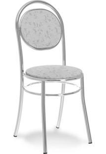 Cadeira Cromada George Fantasia Branca