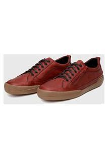 Sapato Em Couro Hayabusa Z 10 Vermelho Solado Âmbar