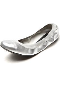 Sapatilha Dafiti Shoes Metal Textura Prata