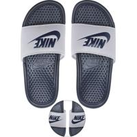 c609f5606fa Chinelo Slide Nike Sportswear Benassi Jdi Branco Azul