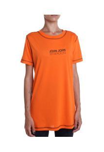 Camiseta John John Biles - Feminina - Laranja