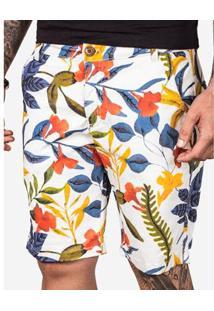 Bermuda Hermoso Compadre Colorful Masculina - Masculino-Branco