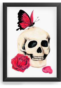 Quadro Decorativo Skull Butterfly