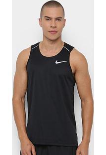 Regata Nike Dri-Fit Miler Tank Masculina - Masculino-Preto