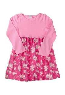 Vestido Infantil Strass E Flores Fakini