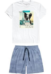 Pijama Branco Masculino Adulto