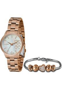 Relógio Lince Feminino Quartz Analogico + Pulseira - Lrr4681L-Kn14B1Rx