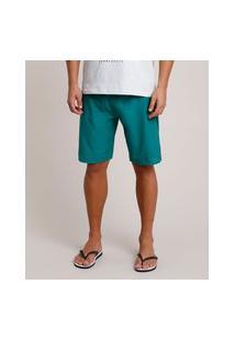 Bermuda Surf Masculina Com Bolso Verde