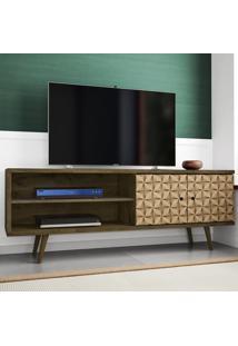 Rack Para Tv 2 Portas Onix Madeira Rústica/Madeira 3D - Móveis Bechara
