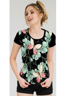 Camiseta Stompy Feminina Estampada 10 - Feminino-Preto
