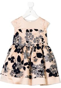 Hucklebones London Vestido Floral Com Brilho - Rosa