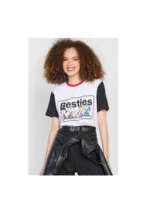 Camiseta Snoopy By Fiveblu Besties Branca