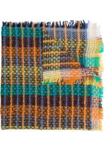 Ymc Cachecol De Tricô Multicolorido - Laranja