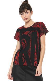 Camiseta Triton Cobra Preta/Vermelho
