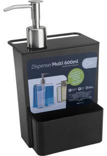 Dispenser Multi Glass 600Ml 12X10,6X20,8Cm Preto - 20719/0008 - Coza - Coza