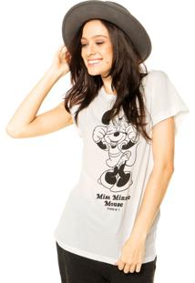 Camiseta Mng Barcelona Mickey Bege