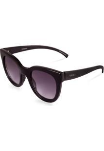 Óculos De Sol Gatinho Feminino Acetato Preto
