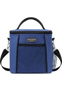 Bolsa Térmica- Azul Escuro & Preta- 21X19X15Cm- Jacki Design